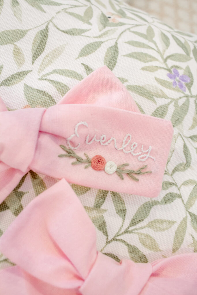 Embroidered Hair Bows 8