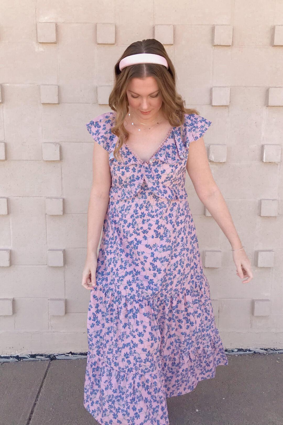 Purple Floral Dress 1