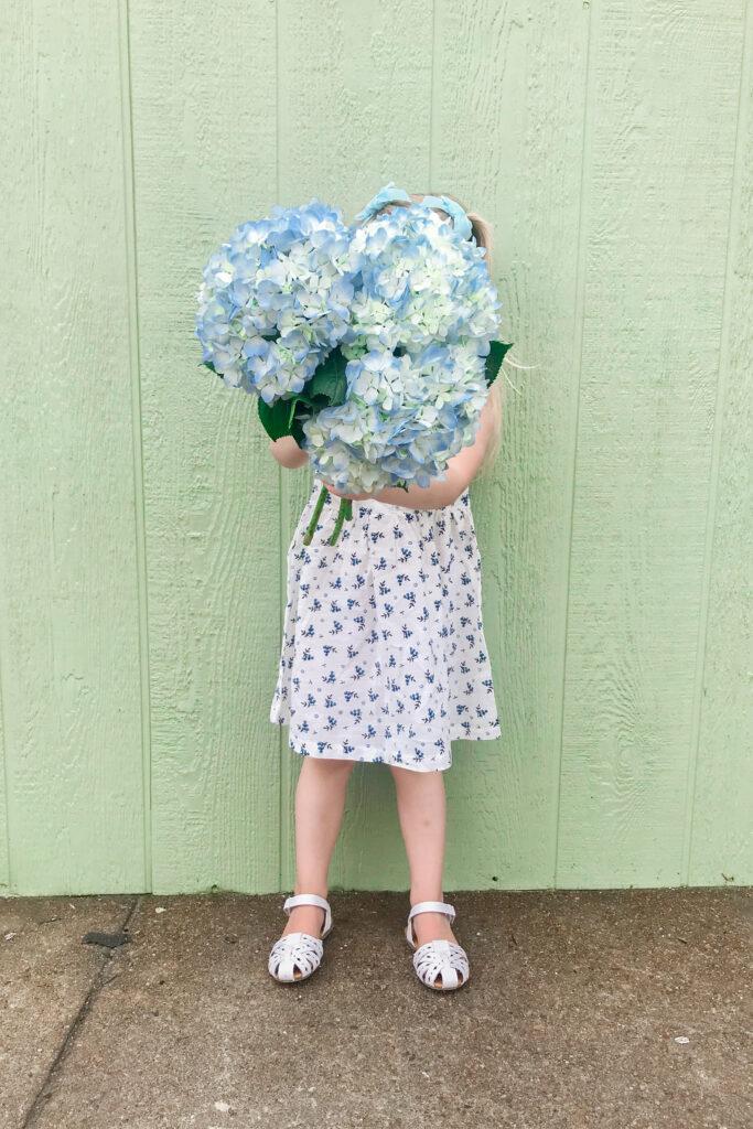 Blue & White Floral Dress 5