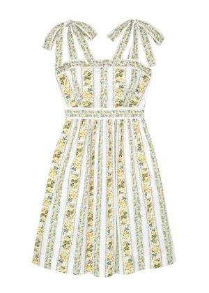 arina dress yellow floral stripe gal meets glam brookie