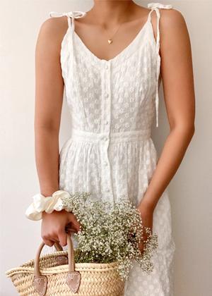 breath of youth daisy white midi dress bow shoulder brookie