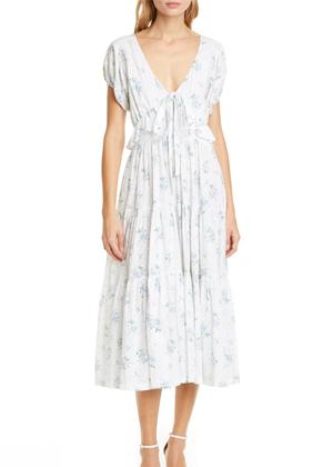 carlton dress loveshackfancy nordstrom brookie white blue swiss dot floral