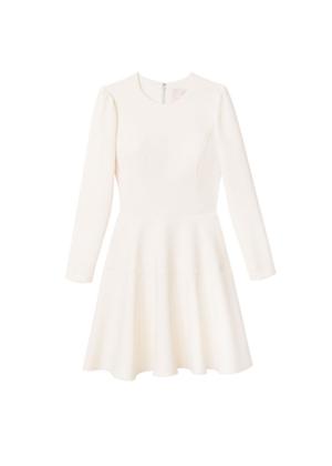 celeste dress gal meets glam ivory cream brookie long sleeve