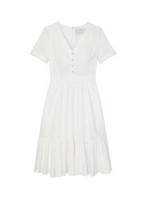 gal meets glam angela white linen button shirt dress brookie