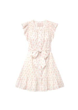 gal meets glam della pink floral white dress brookie