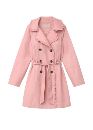 gal meets glam josie pink trench coat brookie ruffle