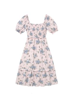 gal meets glam pink floral puff sleeve dress brookie isabel