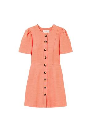 kathleen orange button dress brookie gal meets glam