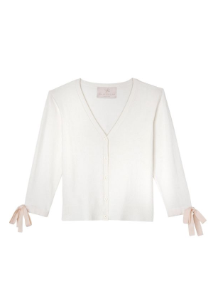 lucille sweater white bow gal meets glam brookie