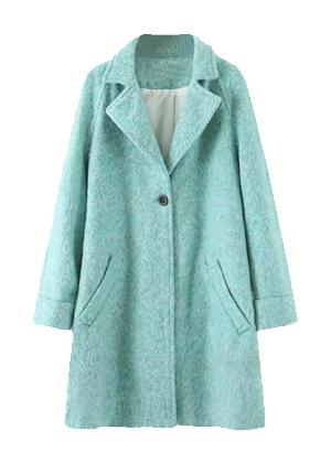 tiffany blue aqua coat shein brookie