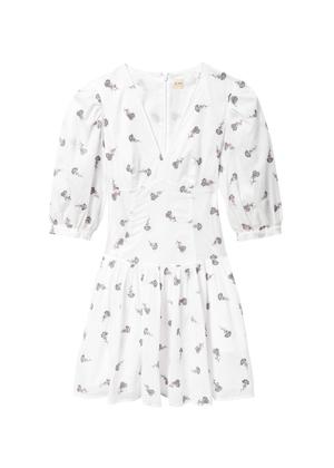 white embroidered floral dress rebecca taylor la vie brookie