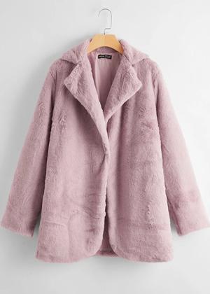 purple lavender faux fur coat brookie shein