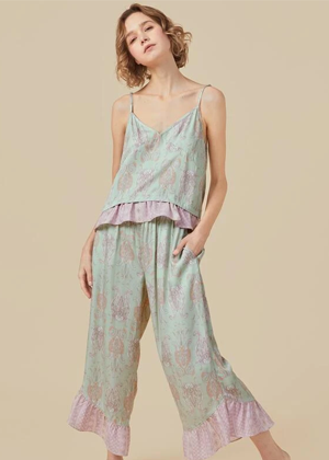 mint green paisley pajamas pjs brookie shein
